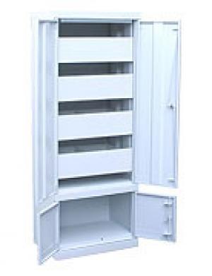 Шкаф металлический картотечный ШК-4-Д4 купить на выгодных условиях в Ростове-на-Дону