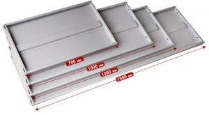 Полка усиленная 100\30 для металлического стеллажа купить на выгодных условиях в Ростове-на-Дону